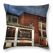 Abandoned In Hdr Throw Pillow