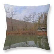 Abandoned Island Home Throw Pillow