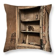 Abandoned Kitchen Cabinet B Throw Pillow