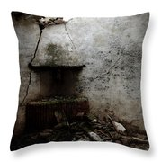 Abandoned Little House 3 Throw Pillow