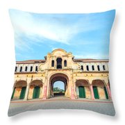 Abandoned Market Throw Pillow
