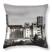 Abandoned Mills Throw Pillow