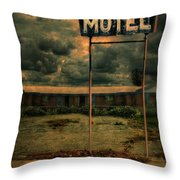 Abandoned Motel Throw Pillow