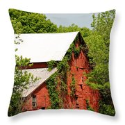 Abandoned Old Barn Throw Pillow
