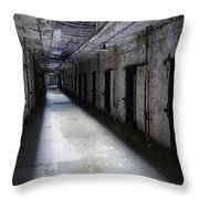 Abandoned Prison Throw Pillow