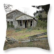 Abandoned Property Throw Pillow