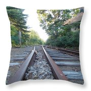 Abandoned Railroad 1 Throw Pillow