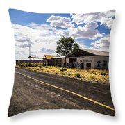 Abandoned Rest Stop Throw Pillow