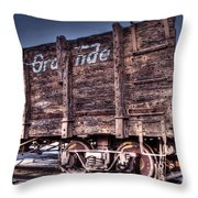 Abandoned Rio Grande Throw Pillow