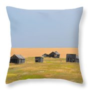 Abandoned Town Throw Pillow