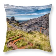 Abandoned Slate Quarry Throw Pillow