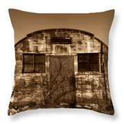 Abandoned Storage Shed Throw Pillow