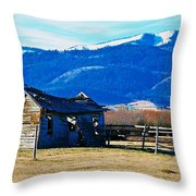 Abandoned Summer Home Throw Pillow
