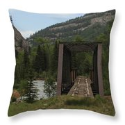 Abandoned Trestle Along The Animas Throw Pillow