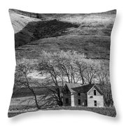 Abandoned Two-story Farmhouse - P Road Nw - Waterville - Washington - May 2013 Throw Pillow