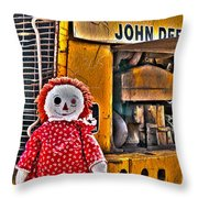 Abandoned - Vehicle Recycling Throw Pillow