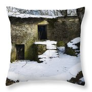Abandoned Villages On Winter Time - Inverno Nei Paesi Abbandonati 06 Throw Pillow