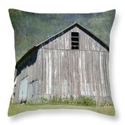 Abandoned Vintage Barn In Illinois Throw Pillow