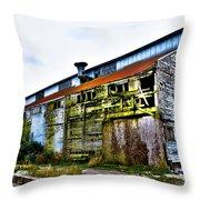 Abandoned Warehouse On The Swinomish Channel - La Conner Washington Throw Pillow