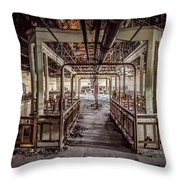 Abandoned Winery In The South Of France Throw Pillow