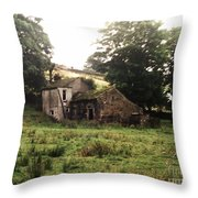 Abandoned Yorkshire House  Throw Pillow