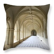 Abbaye De Frontevraud  Cross Coat Throw Pillow