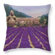Abbaye Notre-dame De Senanque Throw Pillow