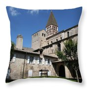Abbey Church St. Philibert - Tournus Throw Pillow
