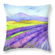 Abbey Fields At Senanque Throw Pillow