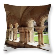 Abbey Fontenay - Cloister Vault  Throw Pillow