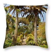 Abbey Gardens Of Tresco On The Isles Of Scilly Throw Pillow