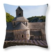 Abbey In Provence Throw Pillow