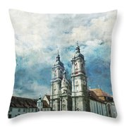 Abbey Of St Gall Throw Pillow