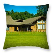 Abbey Of The Genesee Throw Pillow