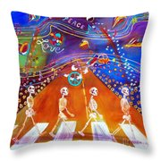 Abbey Road In 50 Years Throw Pillow