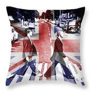 Abbey Road Union Jack Throw Pillow