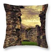Abbey Ruins Throw Pillow