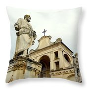 Abbey Statues Throw Pillow
