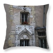 Abbot Palace Entrance Cluny Throw Pillow