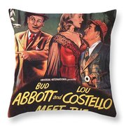 Abbott And Costello Meet The Invisible Man  Throw Pillow