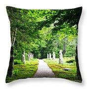 Abby Aldrich Rockefeller Path Statuary Throw Pillow
