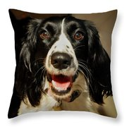 Abby's Sweet Smiling Face Throw Pillow