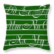 Abc 123 Green Throw Pillow