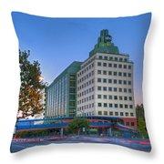 Abc American Broadcasting Company Burbank Ca Throw Pillow