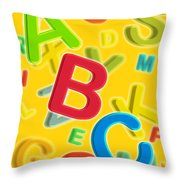 ABC Throw Pillow