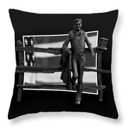 Abe Lincoln In Black And White Throw Pillow