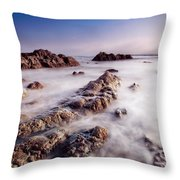 Aberffraw Fog Throw Pillow