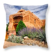 Abiquiu Mission Church Throw Pillow