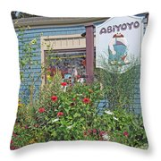 Abiyoyo Throw Pillow by Barbara McDevitt