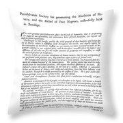 Abolition, 1789 Throw Pillow